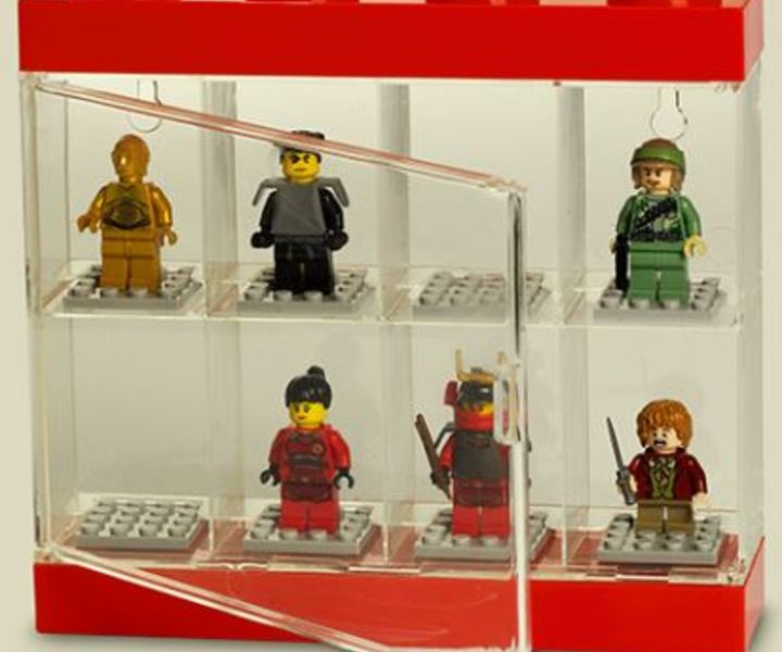 LEGO® Minifig Display 8er rot