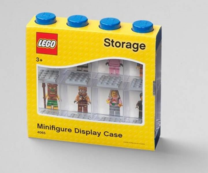 LEGO® Minifiguren Display 8er Blau